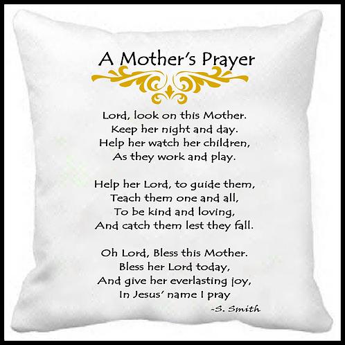 A Mother's Prayer -Prayer Pillow