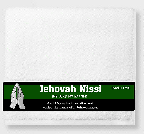 Jehovah Nissi Prayer & Healing Towel