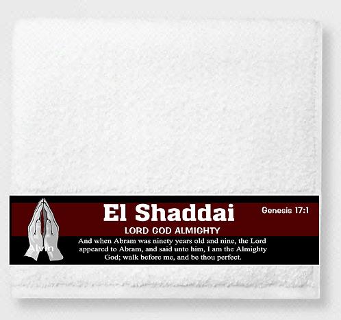 El Shaddai (Lord God Almighty) Prayer & Healing Towel