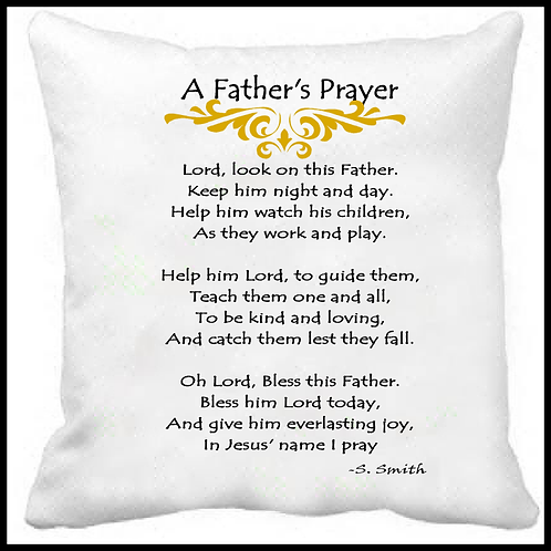 A Father's Prayer -Prayer Pillow