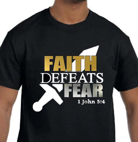 Faith Defeats Fear Cotton T-shirt (Short Sleeve or Long Sleeve)