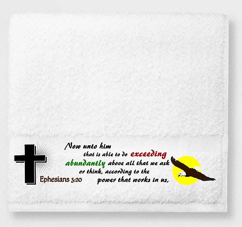 Ephesians 3:20 Prayer & Healing Towel