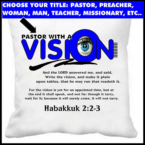 With A Vision Prayer Pillow