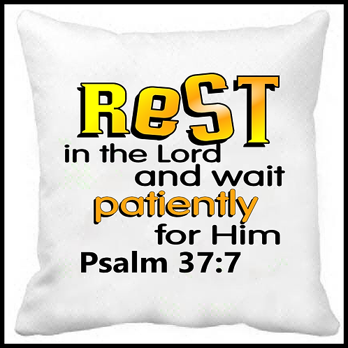 Rest in the Lord Prayer Pillow
