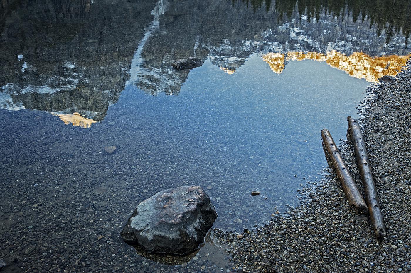 Reflejo en Moraine Lake
