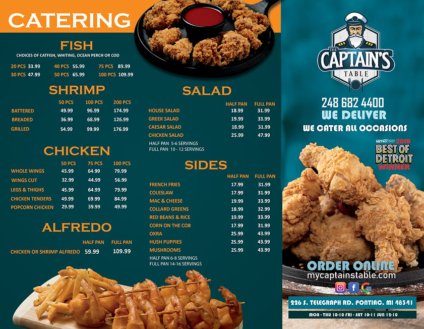 Beautiful Flyer and Menu Captain's