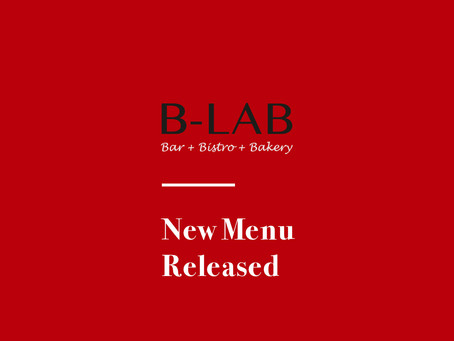 B-Lab New Menu Released!
