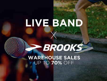 LIVE BAND X Brooks Run Happy Warehouse Sales