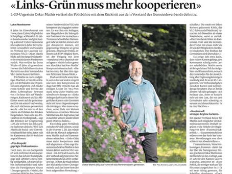 Oskar Mathis legt sein letztes Amt nieder