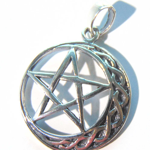 Pentagram with the Crescent Moon