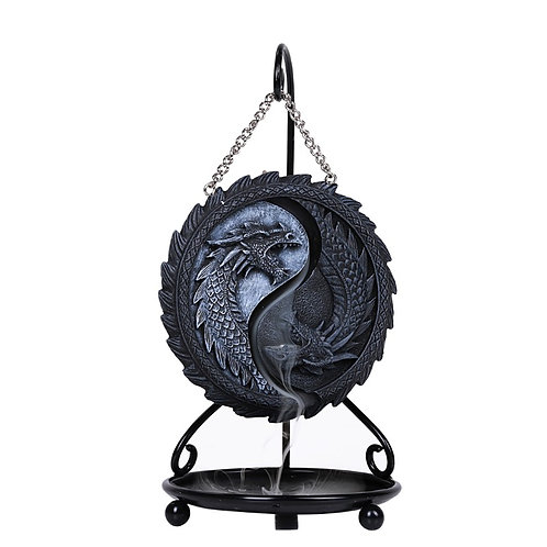 Ying Yang Hanging Dragon Backflow Incense Burner