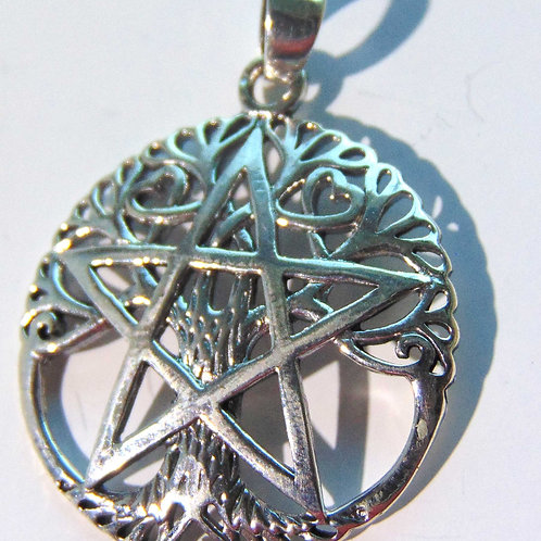 Pentagram with The Tree of Life