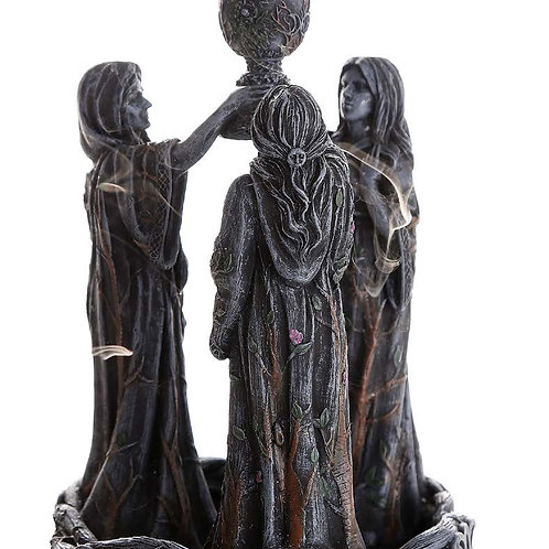 Mother, Maiden, and Crone Backflow Incense Burner