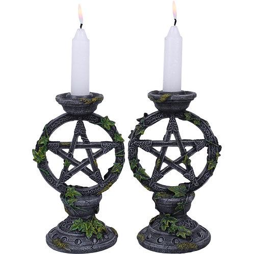 Wiccan Pentagram Candle holder
