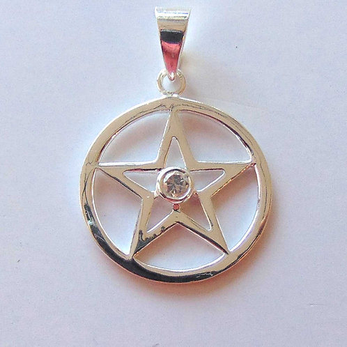 Pentagram with White Crystal