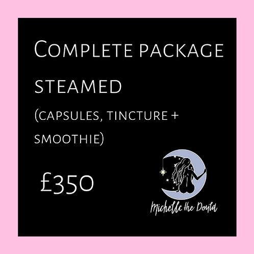 Complete package steamed preparation
