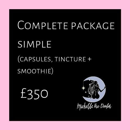 Complete package simple preparation