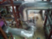Покрытие теплоизоляции газоходов.
