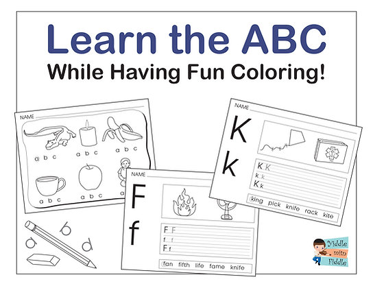 Learn the ABC - 55 Pages