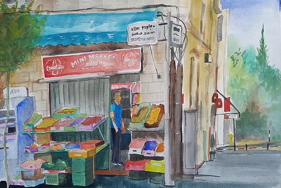 Corner Grocery in Jerusalem