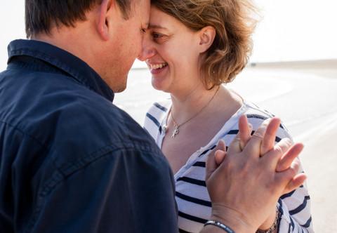 Séance Photo Couple à la plage - Carnon - Florence & Nicolas