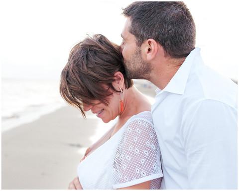 Séance Maternité à la plage - Audrey & David