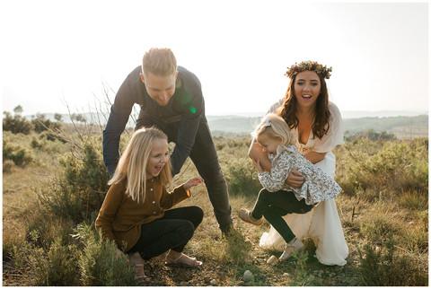 Séance famille à la campagne.