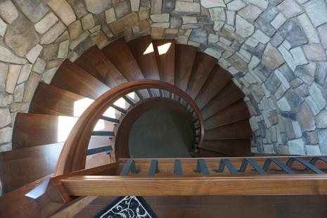 Custom-fit Walnut Stairs