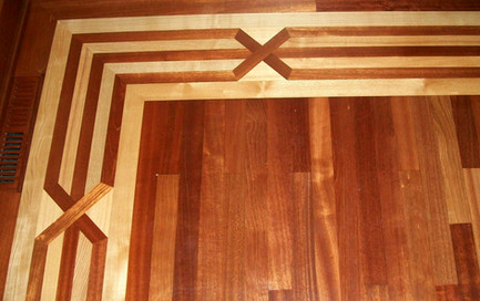 In-laid Hardwood Floor Border