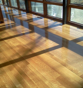 Quarter-Sawn Hardwood Floor