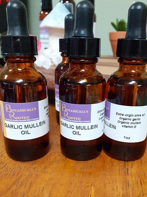 Garlic Mullein Infused Oil - 1oz