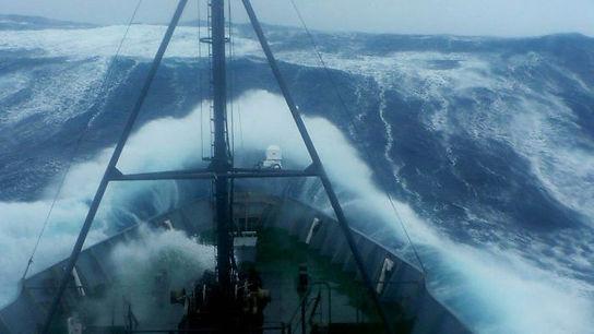 Harsh weather autoline vessel