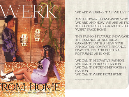 WERK From Home: preview of copywrite mag issue 17 fashion spread