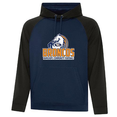 Broncos 2-Tone Hooded Fleece - ADULT