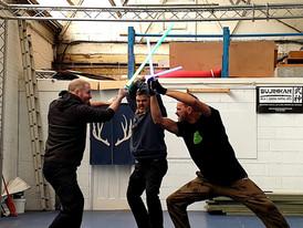 Star Wars lightsabre fights
