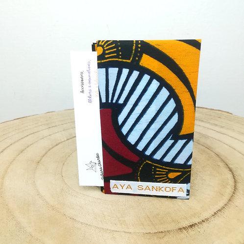 Porte-cartes wax Aya Sankofa