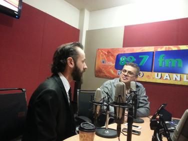 Interview in 89.7 fm UANL Mexico 2016 03