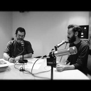 Junto a Santiago Rojas en Caracol Radio