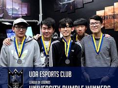 Here are the UoA Esports Uni Rumble winn