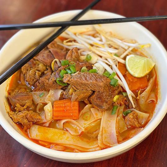 Kaw Ko Flat Noodles at Simply Khmer Restaurant