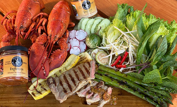 Surf and Turf at Simply Khmer