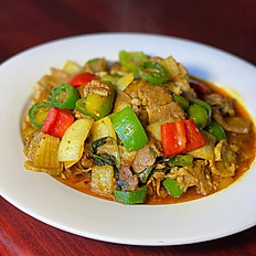 Cha Kroung Sach Jrouk (Lemongrass with Pork)