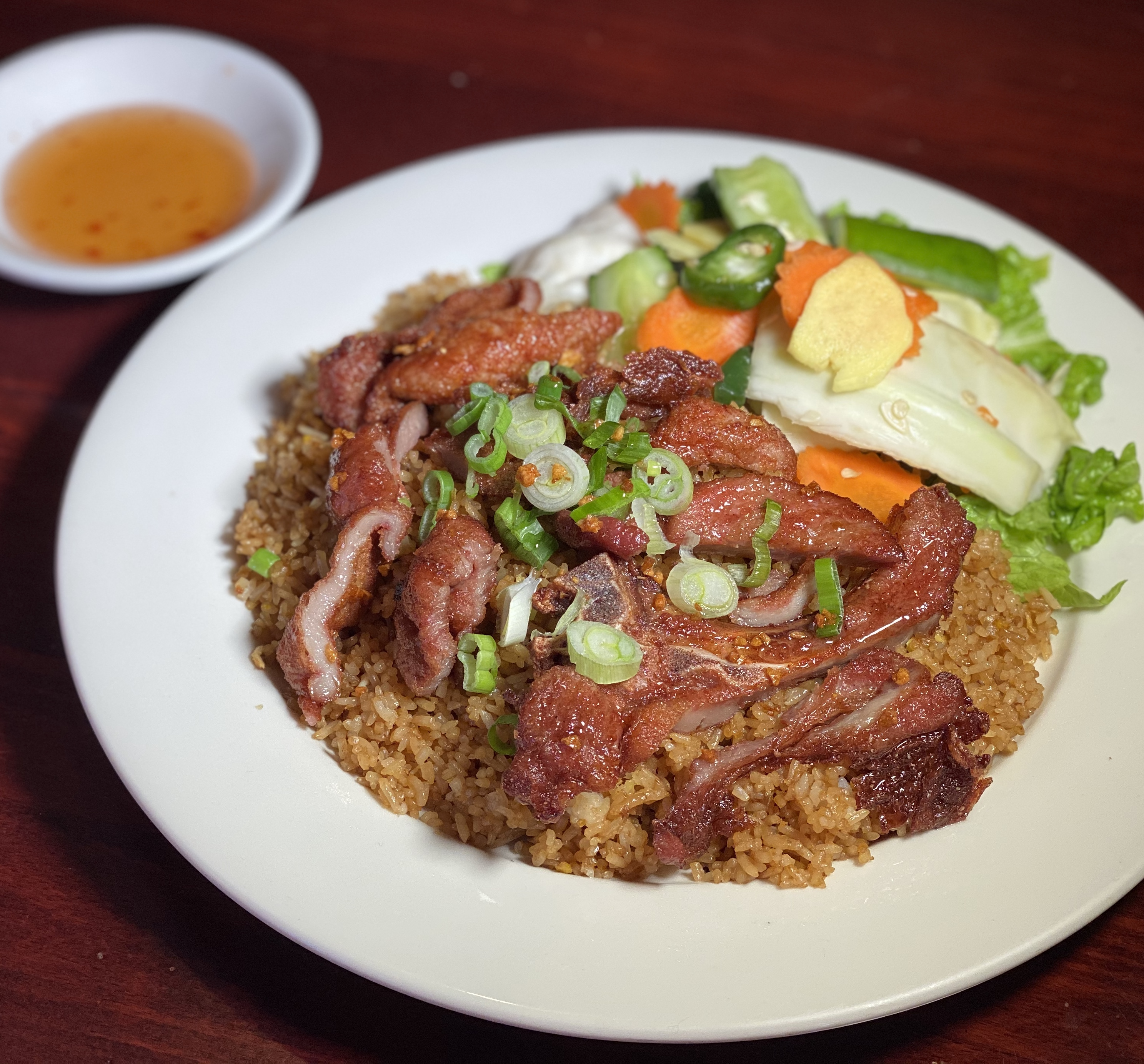 Fried Rice with Crispy Pork Chop
