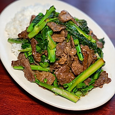 Bai/ Cha Cut-na (Rice and Chinese Broccoli)