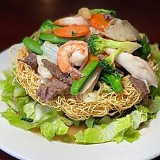Mee Bumpohng  (Crispy Yellow Noodle Bowl)