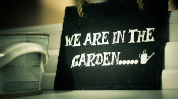 Nous sommes au jardin