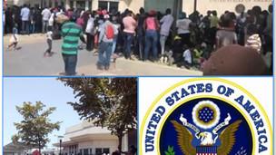 REFUGE : DES CENTAINES D'HAÏTIENS MASSÉS DEVANT L'AMBASSADE DES USA EN QUÊTE D'ASILES POLITIQUES
