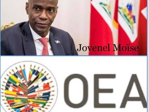 ÉLECTIONS EN HAÏTI: L'OEA IMPOSE UNE DATE BUTOIR À JOVENEL MOÏSE
