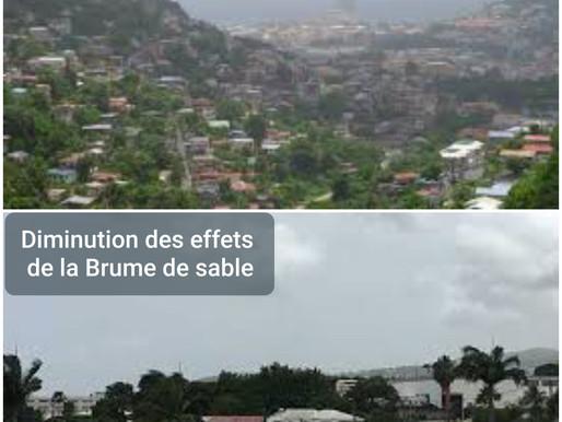MÉTÉO: DIMINUTION DES EFFETS DE LA BRUME DE SABLE.