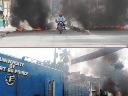 PROTESTATION : UNE JOURNÉE DE TENSION DANS CERTAINES ZONES DE PORT-AU-PRINCE